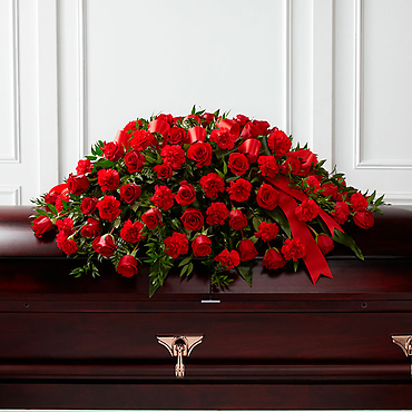 The Dearly Departed Casket Spray