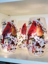 Decorative Lit Vase - Cardinals