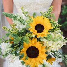 Bridal Bouquet - Sunflowers
