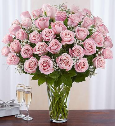 Pretty Pink Roses - 48 roses