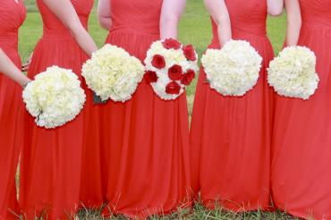 Bridal Bouquets - Red and white