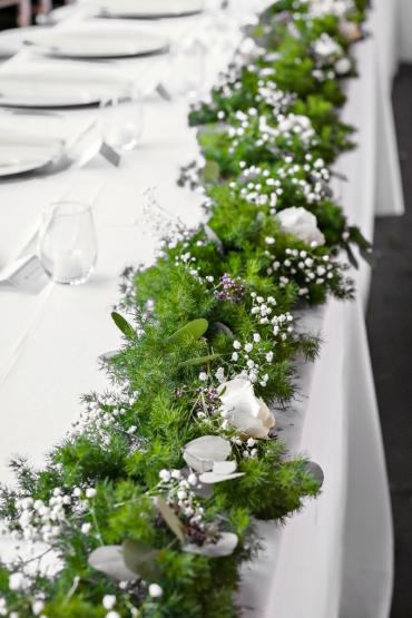 Wedding Head Table with Garland