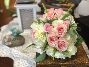 Bridal Bouquet - Pink and white