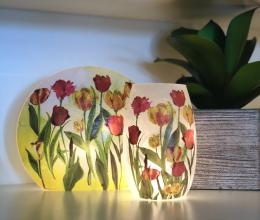 Decorative Lit Vase - Tulips