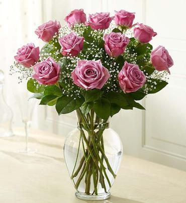 Precious Purple Roses - up to 3 dozen