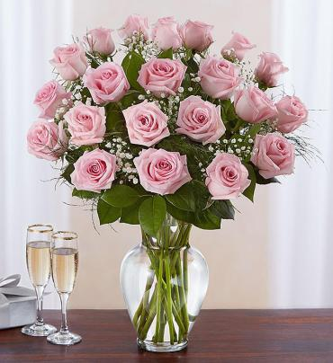 Pretty Pink Roses - up to 3 dozen