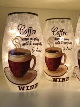 Decorative Lit Vase - Coffee